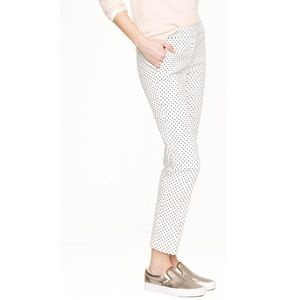 J. Crew Campbell Triangle Print White Pants sz 4